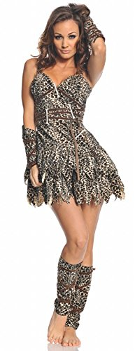 Underwraps Costumes  Women's Sexy Cave Man Costume - Goin' Clubbin', Leopard, Large ()