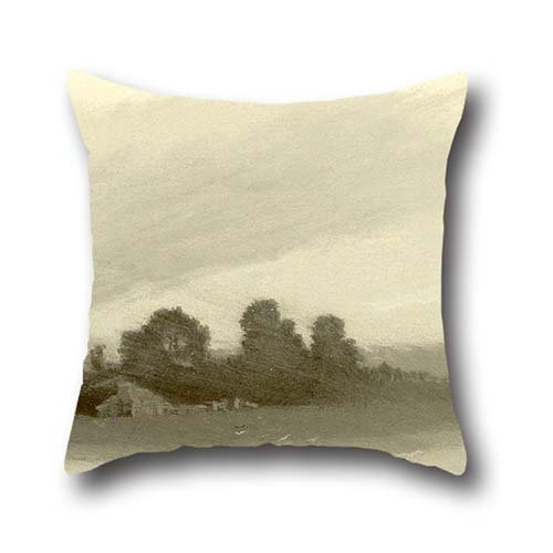 Oil Painting Frank Reaugh - Terrell, Texas Throw Cushion Covers 16 X 16 Inches / 40 By 40 Cm Best Choice For Sofa,lounge,kids Boys,birthday,valentine,boys With Twin - Terrell Texas