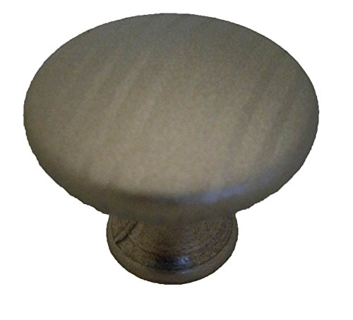 Cabinet Knob - 1 1/2'' Diameter - Covered Muted Nickel - Sterling Finish (Set of 10) by Knobware