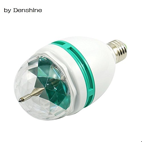 Colorful Rotating Rgb 3 Led Spot Light Bulb Lamp in US - 8