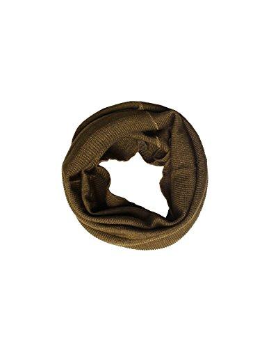 Diesel Scarves - DIESEL BLACK GOLD - Wool Snood Scarf diameter 9 in / 24 cm KOLLARSWAN - green, One size