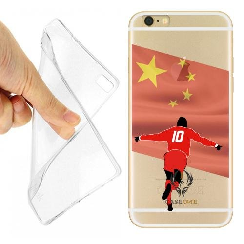 CUSTODIA COVER CASE CALCIATORE CINA PER IPHONE 6 PLUS TRASPARENTE