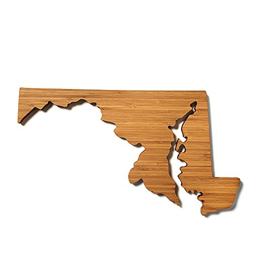 AHeirloom MD State of Maryland Cutting Board 16 Inch Amber