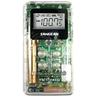 New-SANGEAN DT-120 CLEAR POCKET AM/FM DIGITAL RADIO (CLEAR) - SNGDT120C