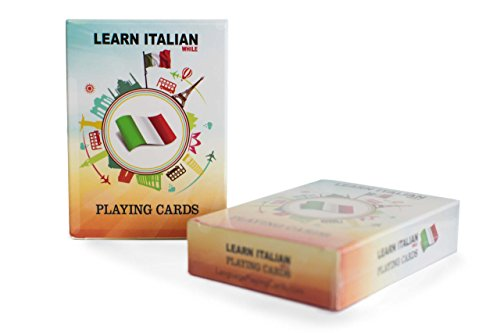 Italian For Kids Card Game - Learn Italian for Beginners - Fun, Visual Italian Language Playing Cards with Phonetic Spelling - Learn New Vocabulary & Numbers Easily