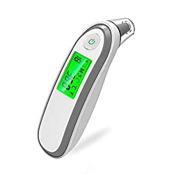Yongrow Dual Mode Fever Digital Medical Infrared Forehead and Ear Thermometer for Adults, Kids, Baby - No Touch Household Infrared Thermometer Forehead