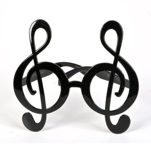 Rhode Island Novelty Treble Clef Glasses ()