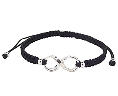 Infinity Symbol Friendship Bracelet 925 Sterling Silver New Amazon