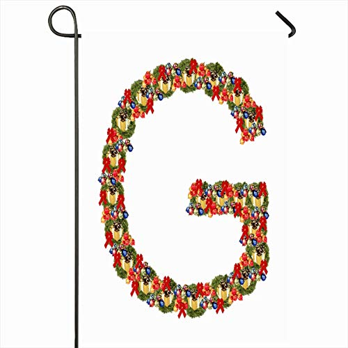 Ahawoso Garden Flag 12x18 Inches Green Christmas Ecological Figure Letter Celebration Red December Dc3a9co Event Joy Nature Design Outdoor Decorative Seasonal Double Sided Home House Yard Sign