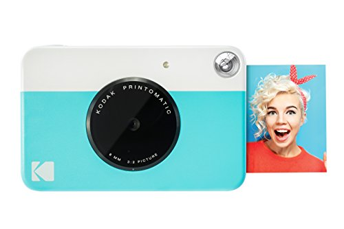 Kodak PRINTOMATIC Digital Instant Print Camera (Blue), Full Color (Camera|Blue)