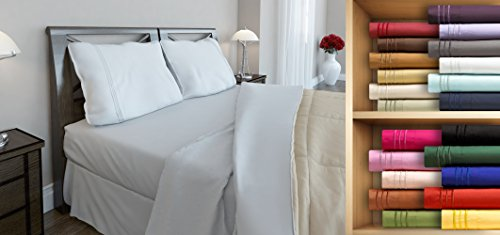 Clara Clark Premier 1800 Series, Full Size 4 Pc. Sheet set, White (Mattress Set Product Premiere)