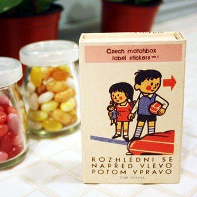 Czech Matchbox Label Stickers-Ver.01