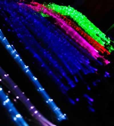 Glowbys LED Fiber Optic Light-Up Hair Barrette - Rainbow