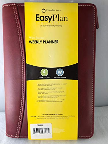 Franklin Covey Leather Wire-Bound Weekly Planner Black (763500) ()