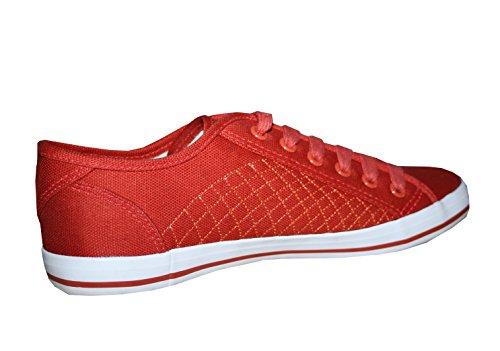 Kappa Devito Tex Canvas Sneaker Damen/Mädchen rot/weiß Gr. 37