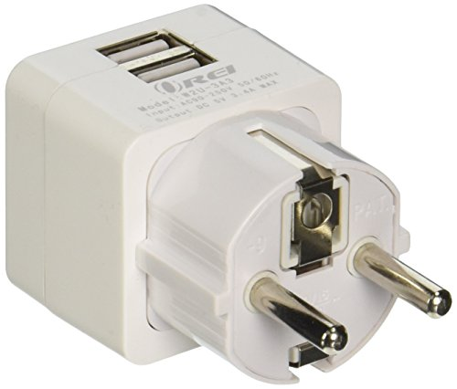 Schuko Travel Adapter Grounded Germany product image