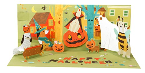 Card Panoramic (Up With Paper Pop-Up Panoramics Sound Greeting Card - Howling Halloween)