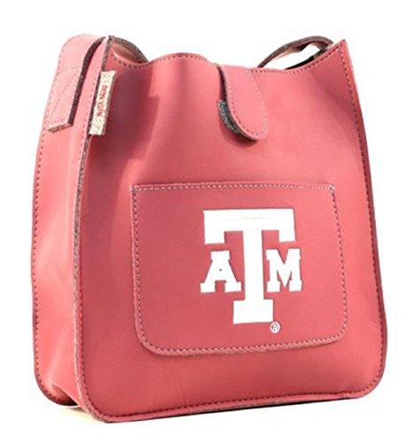 Texas A&M Leather Style Satchel Purse - Alan Stuart Purses