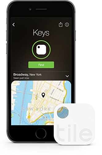 Tile (Gen 2) - Key Finder. Phone Finder. Anything Finder - 1 Pack (Discontinued by Manufacturer) by Tile