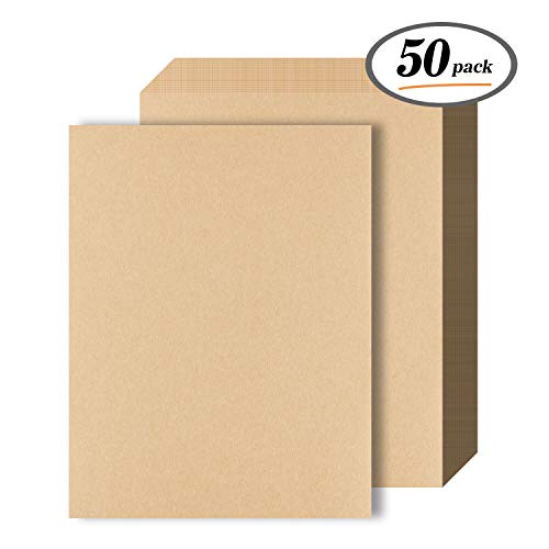- Kraft Paper - 50 Sheets 120 GSM Letter Sized Brown Stationery Paper for Arts, Crafts, and Office Use