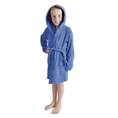 c4bb4a15cd Red Olives Kids Boys Girls Bathrobe 100 % Egyptian Cotton Luxury Velour  Towelling Hooded Dressing Gown Soft FINE Comfortable Nightwear Terry ...
