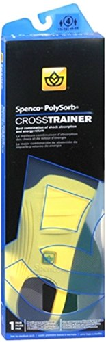 - Spenco PolySorb Cross Trainer Insoles Size 4 1 Pair (Pack of 3)