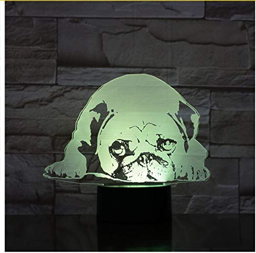 OVIIVO Creative Table Lamp Desk Lamp 3D Night Light Cute Dog Model Toy 3D Night Lamp Led Light Kids Hobbies Using for Reading, Working by OVIIVO (Image #3)