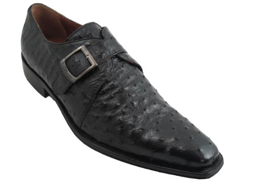 Toscana Autruche Lace Up Chaussures Made In Italy Noir