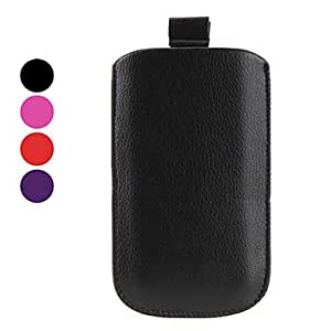 Simple Style PU Leather Pouches for Samsung Galaxy S2 I9100 (Assorted Colors) --- COLOR:Black