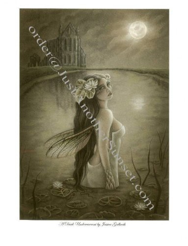 "Price comparison product image Jessica Galbreth Greeting Card 5"" X 7"" A Dark Undercurrent"