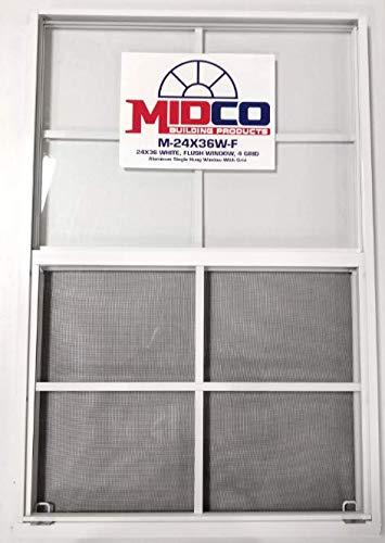 "24""x36"" Flush Mount Aluminum Window - White (1)"