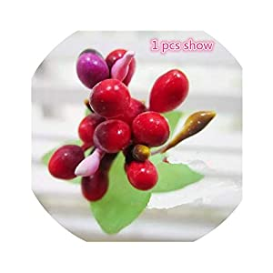 Get-in 10pcs Mini Berry Stamens Artificial Flower Wedding Home Decoration DIY Wreath Scrapbook for Needlework Craft Artificial Flowers 13