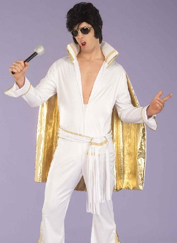 Forum Flirtin with The 50's Rock N Roll King Costume, White, One Size -