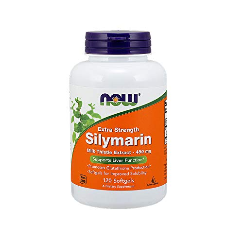 Now Supplements, Silymarin Milk Thistle Extract, Extra Strength 450 mg, 120 Softgels