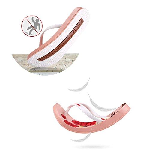 36 Donna Scivolare Bianca Scarpe Sandali Pantofole Brown Dimensioni Da colore Estate Piatto Spiaggia Femminili 7pwB4