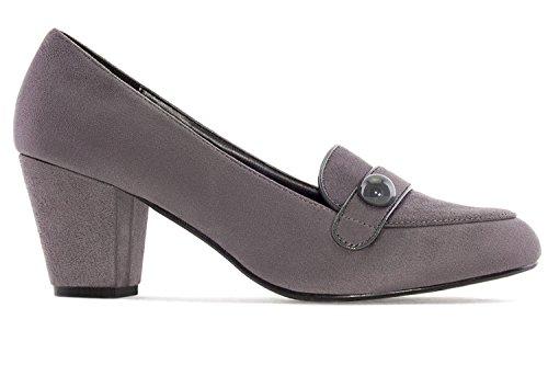 Andres Machado - Zapatos de vestir para mujer gris gris
