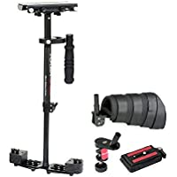 "FLYCAM HD-3000 Micro Balancing 60cm/24"" Handheld Steadycam Stabilizer with Arm Support Brace for DSLR Video Cameras up to 3.5kg/8lbs - FREE Table Clamp & Unico Quick Release (FLCM-HD-3-AB-QT)"
