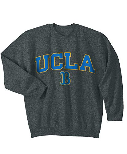 - Elite Fan Shop NCAA Men's Ucla Bruins Crewneck Sweatshirt Dark Heather Arch Ucla Bruins Dark Heather Large