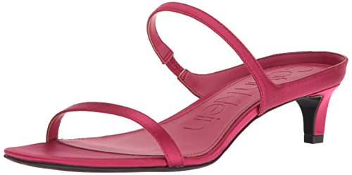 Calvin Klein Women's Domenica Sandal, Hibiscus Pink, 9 Medium US (Satin Klein Calvin Dress)