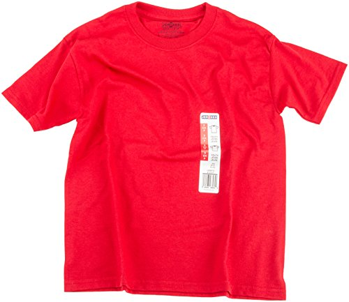 Jerzees 429BEP3-S Youth Tee, Small, True Red