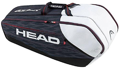 Head Djokovic Backpack - HEAD Djokovic 9R Supercombi Tennis Bag, Navy/Black/White