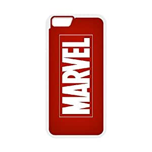 High Quality Specially Designed Skin cover Case Comics MARVEL Logo iPhone 6s 4.7 Inch Cell Phone Case White