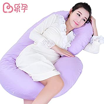 Amazon.com: Leyun C-Shape Embarazo almohada suave breastable ...