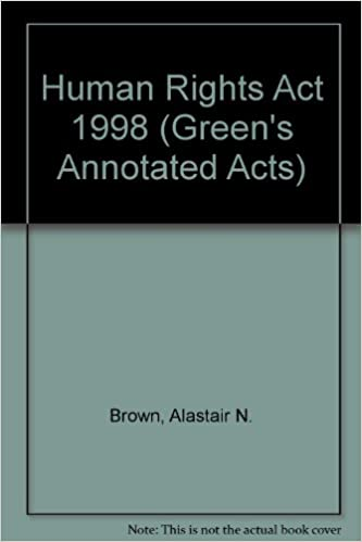 Book Human Rights Act 1998 (Green's Annotated Acts)