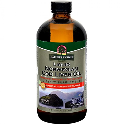 Natures Answer Liver - Nature's Answer Norwegian Cod Liver Oil Lemon, Lemon 16 Oz by Nature's Answer