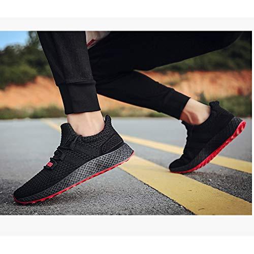 Ginnastica 44 All'aperto Uomo Per Hiking Low Traspirante E Sportive top Rosso Nero Climbing Sneakers 39 Da Dimensioni Antiscivolo Uomo Running Moda Scarpe 5qZwHv
