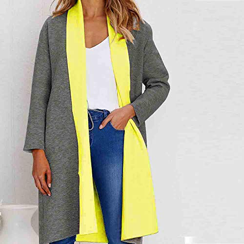 for Jacket Ladies Thickening Sleeve Solid Winter Yellow Jacket Jacket MOIKA Women Long for Cotton Thick q7XxcAE