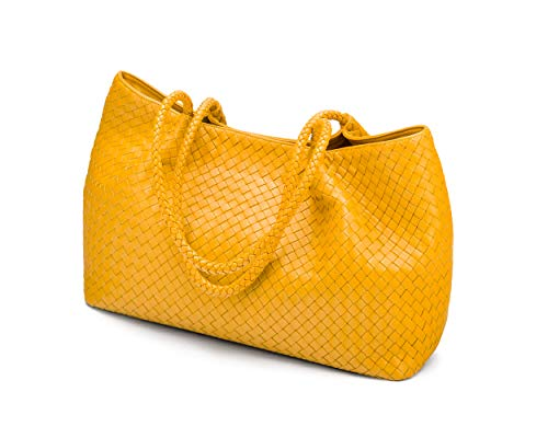 Yellow SageBrown Woven Cassidy Slouchy Bag 7YZRHq