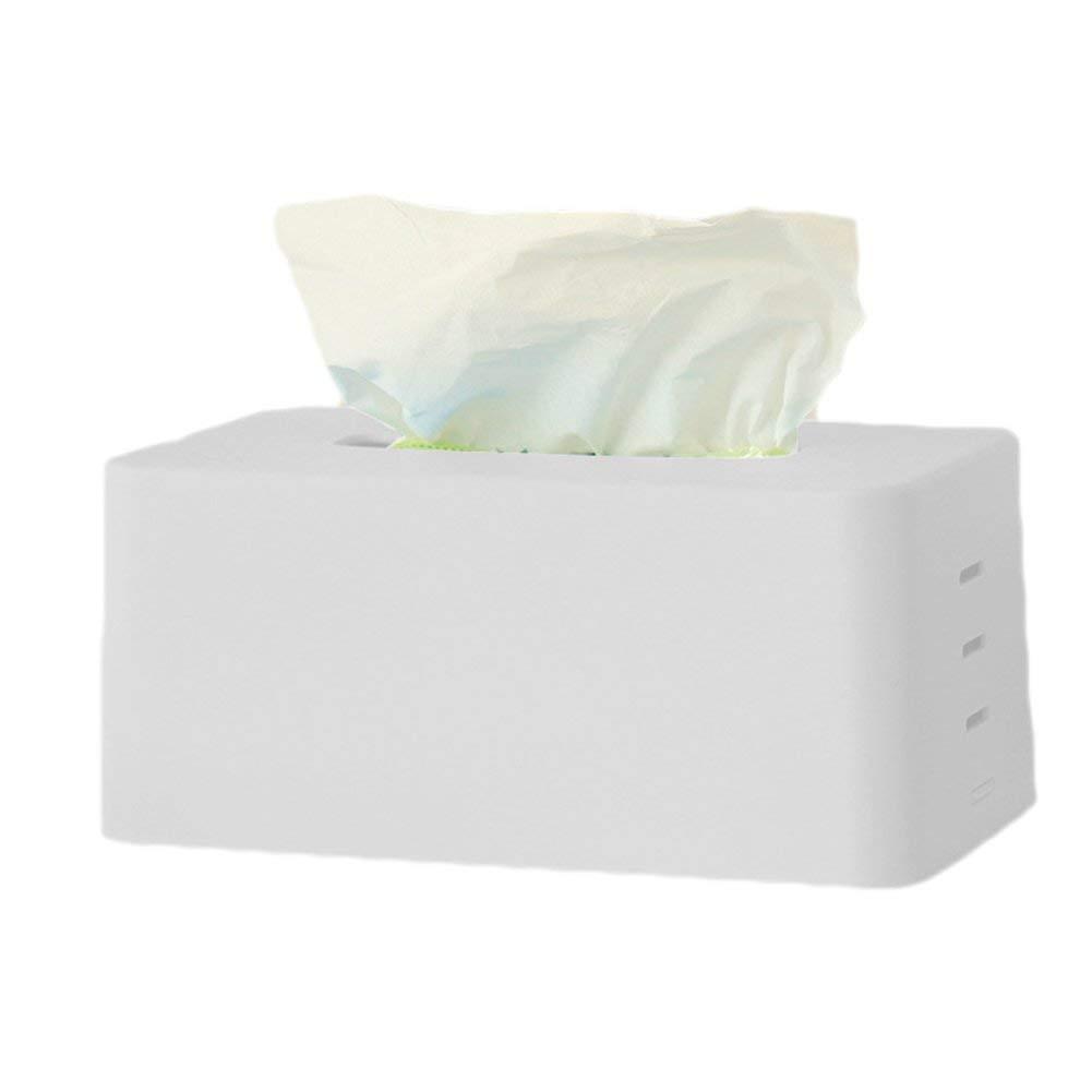 Ogquaton Kit de tejido ajustable en capas Cubierta de caja de pa/ñuelos de pl/ástico pr/áctica Servilletero F/ácil forma