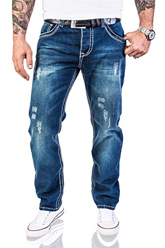 X Gruesas 44 Rc 36l 44w Rock W29 Vintage 2056 Creek De Costuras Pantalones Diseño Azul Vaqueros pw61gxqw8